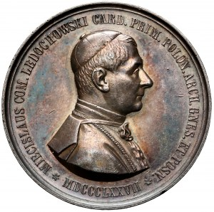 Medal kardynał Mieczysław Ledóchowski 1877