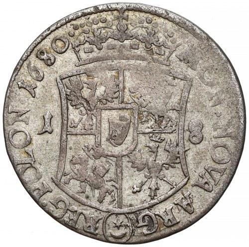 Jan III Sobieski, Ort Bydgoszcz 1680 TLB - owalna - rzadki i ładny