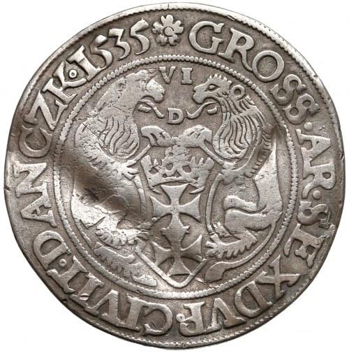 Zygmunt I Stary, Szóstak Gdańsk 1535 - VI nad tarczą - b. rzadki