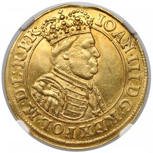 Jan III Sobieski, Dukat Gdańsk 1688 - NGC AU55