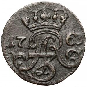 August III Sas, Szeląg Elbląg 1763 ICS