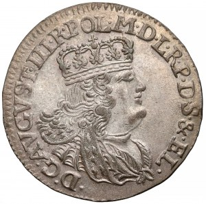 August III Sas, Szóstak Elbląg 1762 ICS - węższe pop. - rzadki
