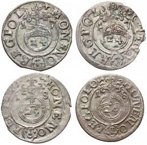 Zygmunt III Waza, Półtoraki Bydgoszcz 1617-1618 (4szt)