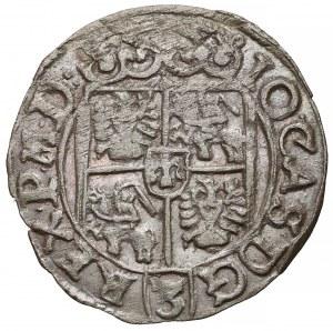 Jan II Kazimierz, Półtorak Poznań 1661 - obwódka na Aw. - ładny