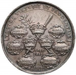 Szwecja, Karol XII, Medal na pamiątkę zwycięstw (w tym w Polsce) 1703 r.