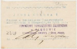 Głogów, Powiatowe Towarzystwo Zaliczkowe, 1 korona (ważna do 1.11.1919)