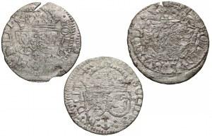 Zygmunt III Waza, Szeląg Wilno 1615-1618, zestaw (3szt)