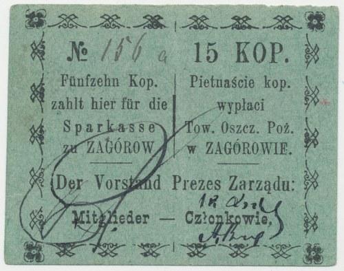 Zagórów, Tow. Oszcz. Poż., 15 kopiejek (1915)