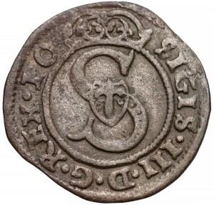 Zygmunt III Waza, Szeląg Wilno 1592 - SOLITVS - rzadki