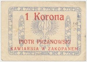 Zakopane, P. Przanowski Kawiarnia, 1 korona (1919)