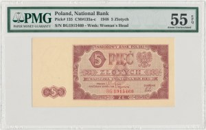 5 złotych 1948 - BG - PMG 55 EPQ
