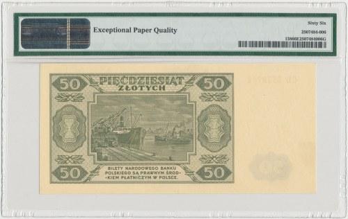 50 złotych 1948 - CD - PMG 66 EPQ