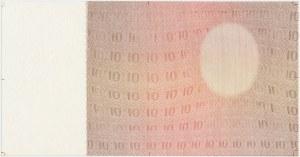 Próba kolorystyczna poddruku awersu 10 złotych 1928