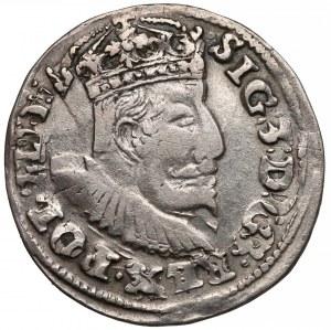 Zygmunt III Waza, Trojak Lublin 1595 - TOPÓR - rzadki