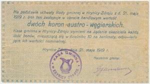 Krynica Zdrój, 2 korony 1919 ...węgierskich - Ser. H