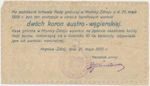 Krynica Zdrój, 2 korony 1919 ...węgierskiej - Ser. B