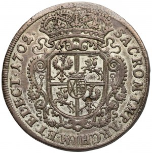 August II Mocny, Talar Lipsk 1702 - Order Dannebroga - b. ładny