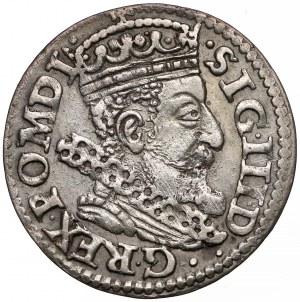 Zygmunt III Waza, Trojak Kraków 1606 - Lewart w okrągłej
