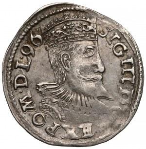 Zygmunt III Waza, Trojak Poznań 1596 - data w otoku