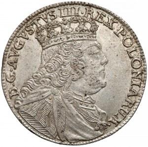 August III Sas, Ort Lipsk 1754 EC - duża głowa