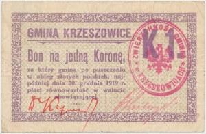 Krzeszowice, 1 korona 1919