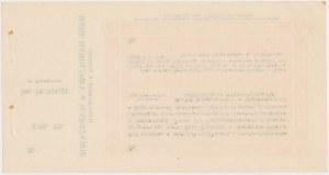 Sosnowice, T-wo Poż.-Oszczędn. w Będzinie, 50 kopiejek 1914 - blankiet z grzbietem