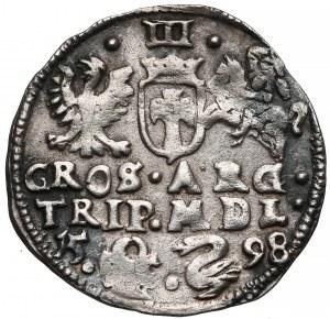 Zygmunt III Waza, Trojak Wilno 1598 - Łabędź - rzadki