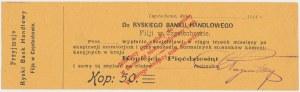 Częstochowa, Ryski Bank Handlowy 50 kopiejek 1914 - blankiet