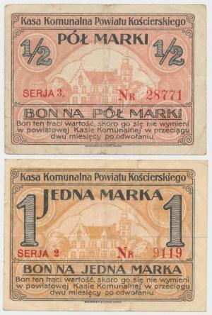 Kościerzyna, 1/2 i 1 marka (1920) - zestaw (2szt)