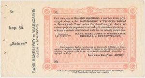 Sosnowice, SATURN, 50 kopiejek 1914 - blankiet z grzbietem