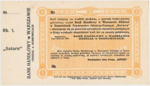 Sosnowice, SATURN, 1 rubel 1914 - blankiet z grzbietem