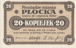 Płock, 20 kopiejek (ważne do 1.1.1919)
