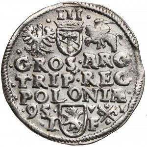 Zygmunt III Waza, Trojak Poznań 1595 - z inicjałami V-I