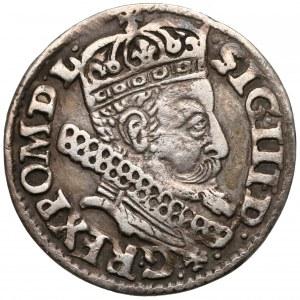 Zygmunt III Waza, Trojak Kraków 1606 - z 'orderem' (R3)