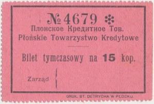 Płońsk, Tow. Kredytowe, 15 kopiejek (1914)