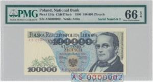 100.000 złotych 1990 - AS 0000002 - PMG 66 EPQ