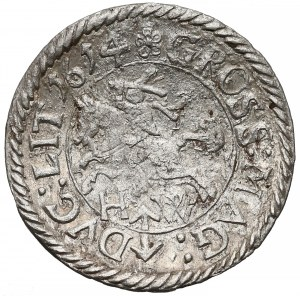 Zygmunt III Waza, Grosz Wilno 1614 HW - rzadki