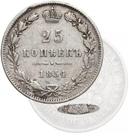 25 kopiejek 1854 MW, Warszawa - b. rzadkie