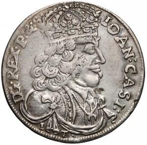 Jan II Kazimierz, Ort Kraków 1657 IT - rozetki - rzadszy