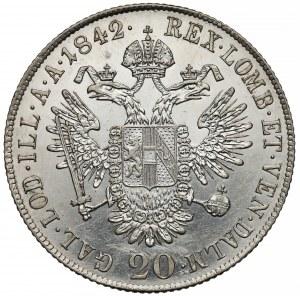 Austria, Ferdynand I, 20 krajcarów 1842-C