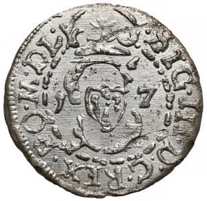 Zygmunt III Waza, Szeląg Wilno 1617 - data skrócona