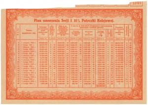 Obligacja 10% Pożyczki Kolejowej, 10 Franków złotych 1924