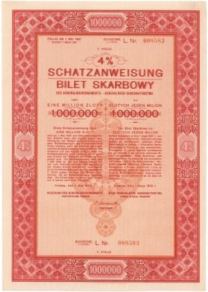Okupacja, 3.5% Bilet Skarbowy, Em.5 - litera L - 1 mln złotych 1942