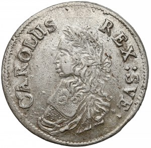 Szwecja, Karol XI, 2 marki 1665
