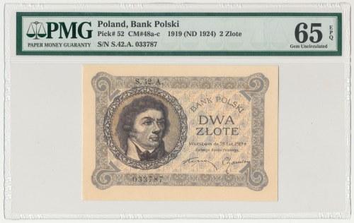 2 złote 1919 - S. 42 A - PMG 65 EPQ