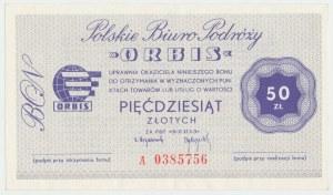 Polskie Biuro Podróży ORBIS, Bon 50 złotych - A