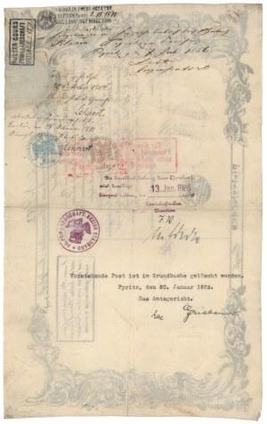 Stargard / Pyrzyce, List zastawny 1855