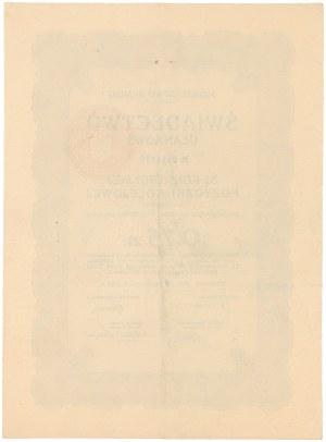 5% Konwersyjna Pożyczka Kolejowa, Świadectwo ułamkowe 0.75 złotego 1926
