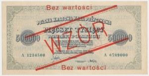 WZÓR 500.000 mkp 1923 - 7 cyfr - A - bez perforacji