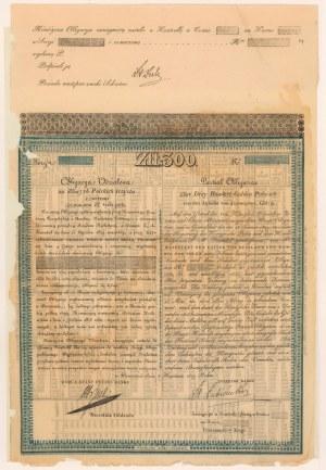 Królestwo Polskie, Obligacja na 300 zł 1829 - Łubieński